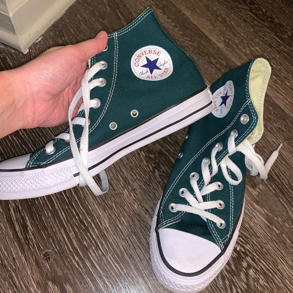 Emerald Green Converse   Poshmark